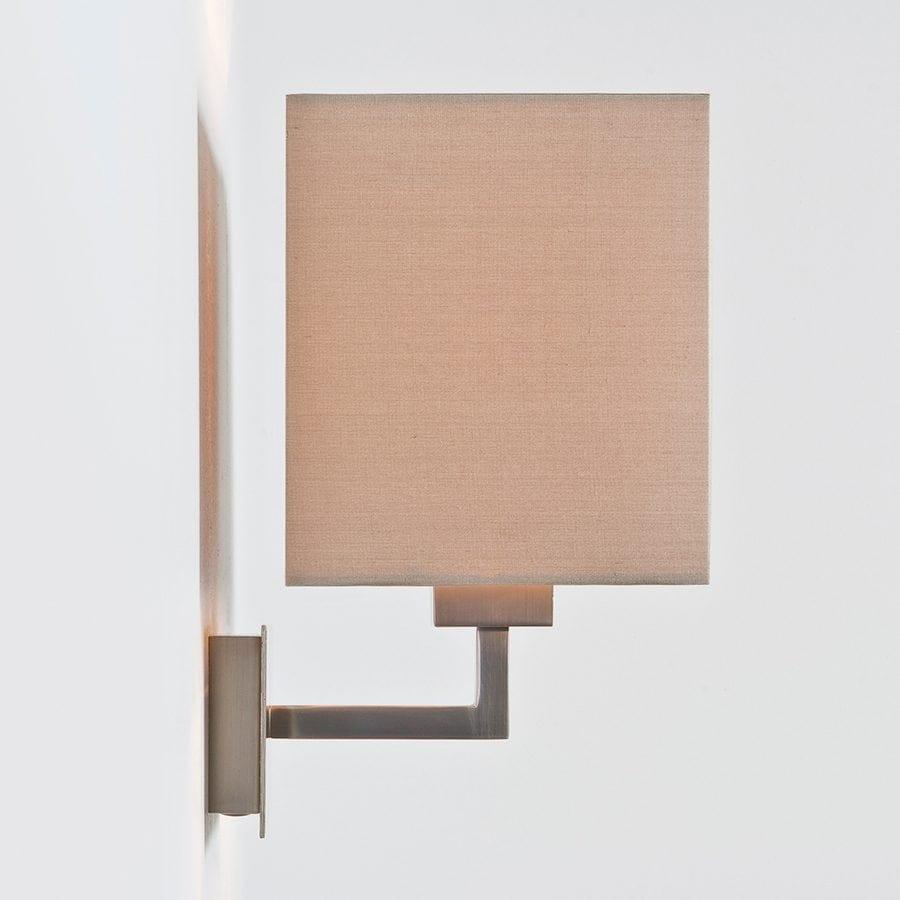 Park Lane Grande Vegglampe Matt Nikkel u/Skjerm-53248