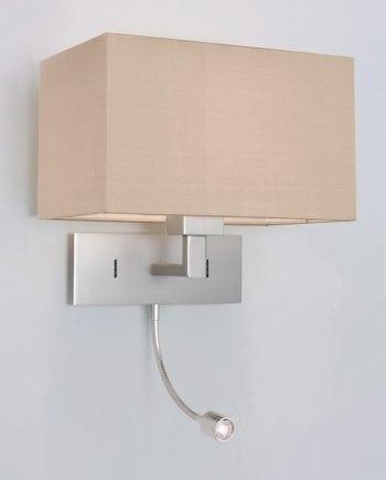 Park Lane Grande LED Vegglampe Matt Nikkel u/Skjerm-53294