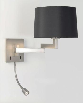 Momo LED Vegglampe Matt Nikkel u/Skjerm-0