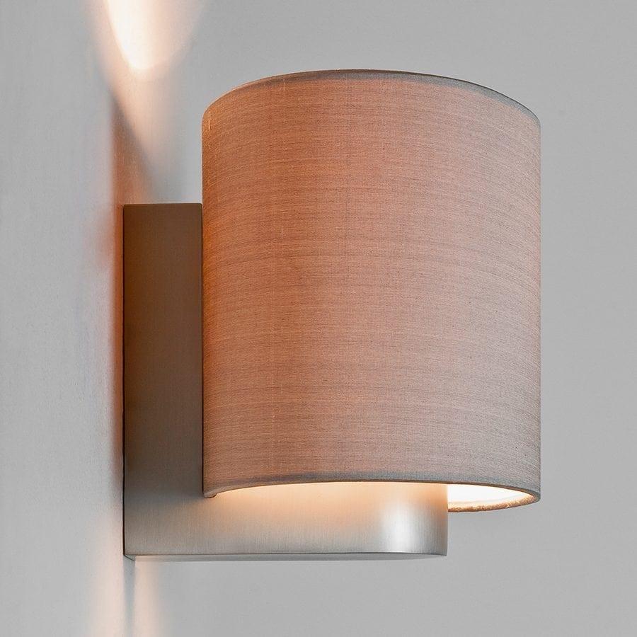 Napoli Vegglampe Matt Nikkel u/Skjerm-53369