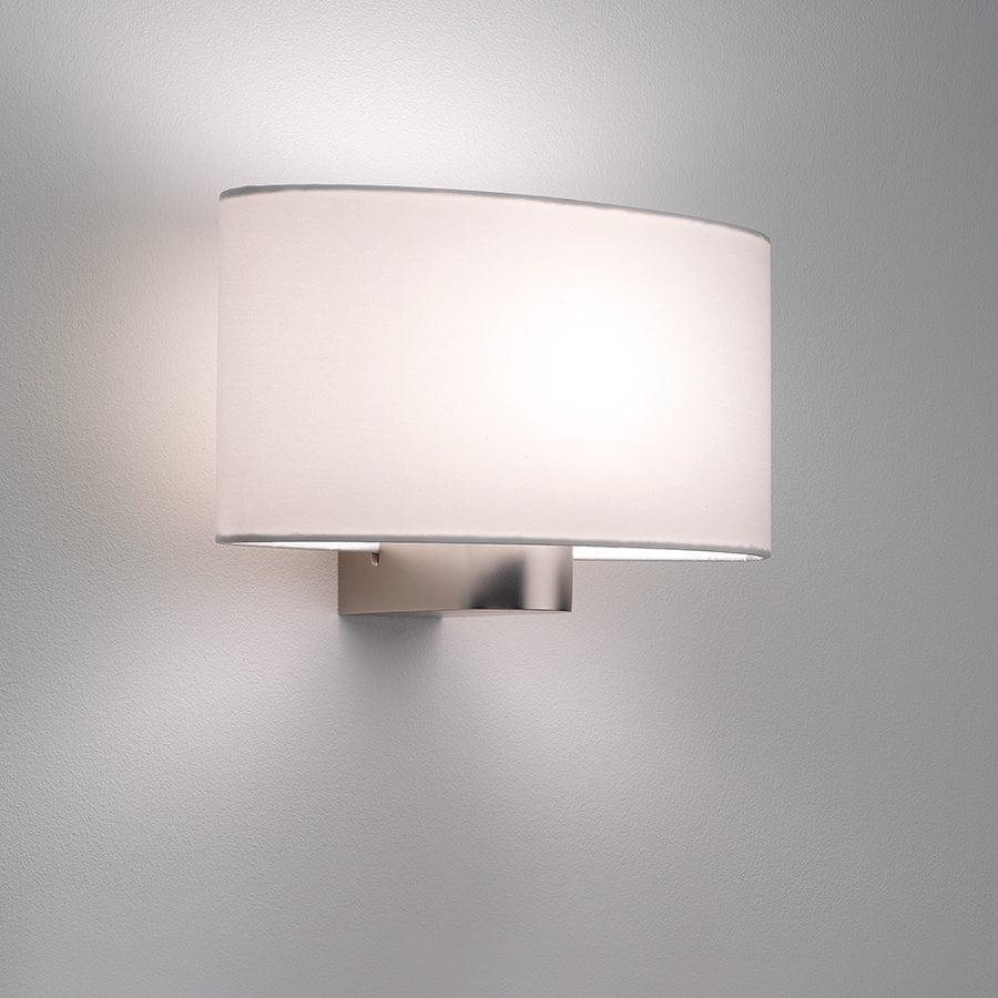 Napoli Vegglampe Matt Nikkel u/Skjerm-53368