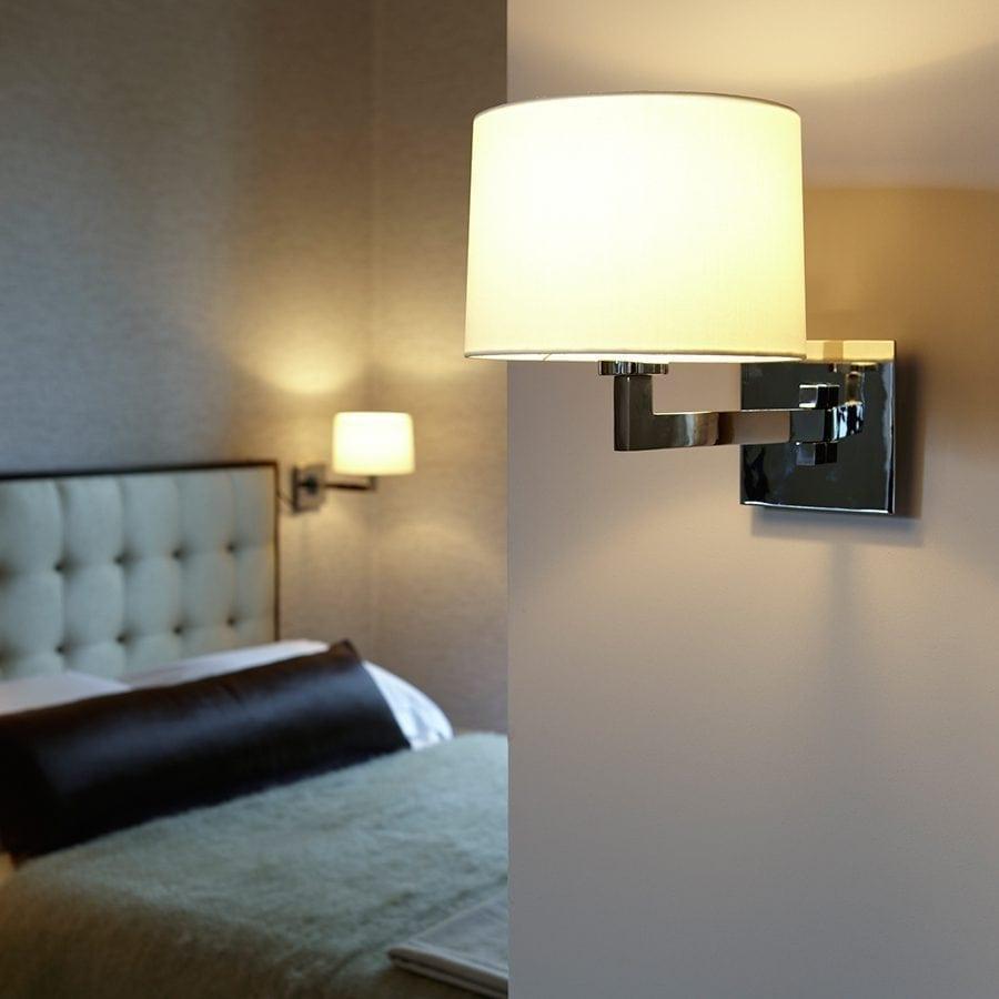 Momo Single Vegglampe Krom u/Skjerm-53020