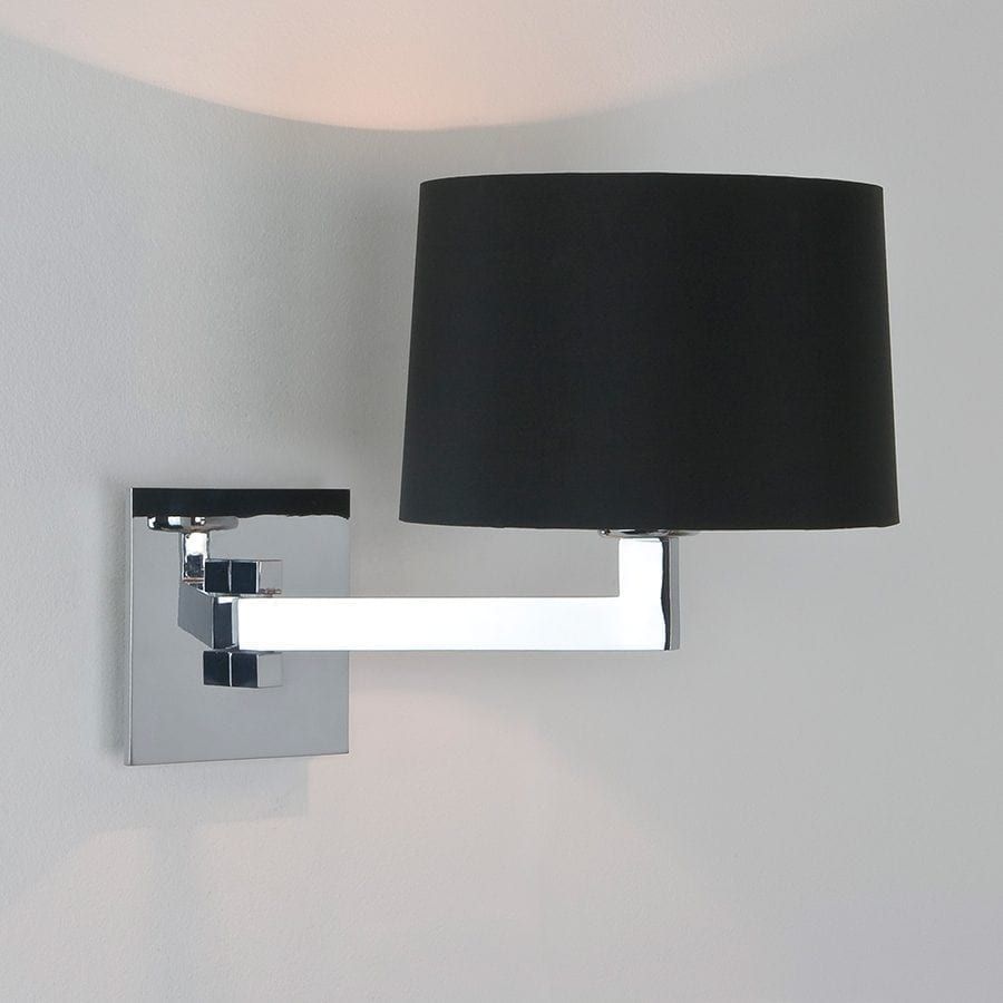 Momo Single Vegglampe Krom u/Skjerm-53019