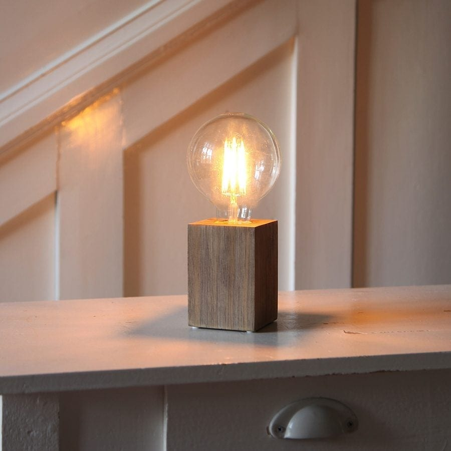 LYS lampefot i tre-54498