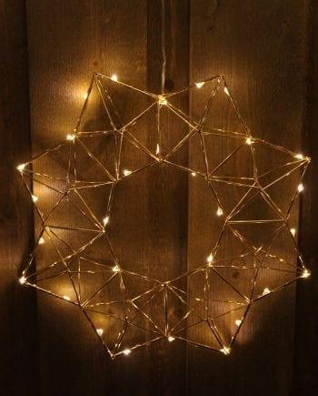 Edge LED Adventsstjerne Messing-0