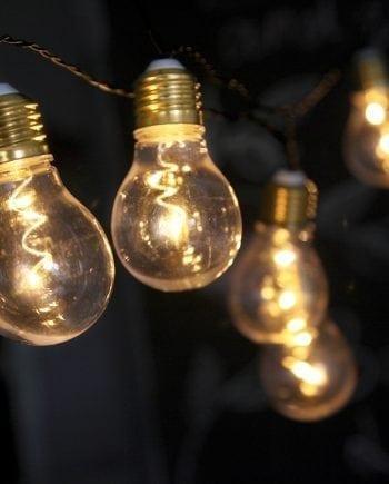 Glow Party Batteridrevet LED Lysslynge 5 Lys-0
