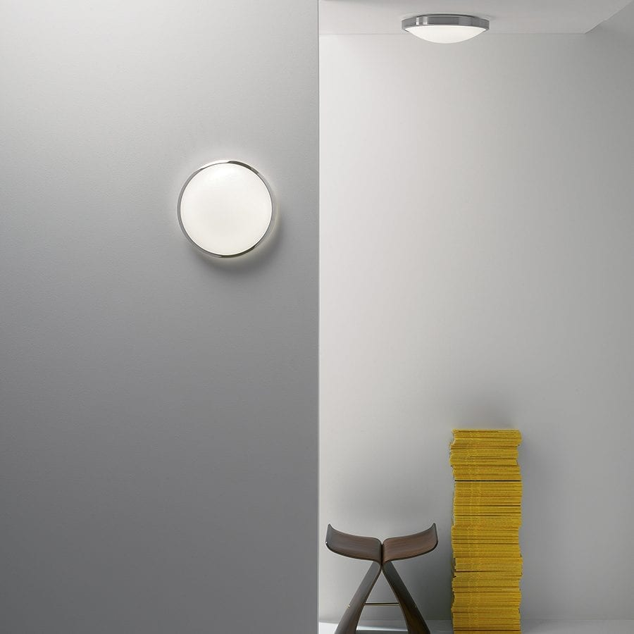 Osaka 350 LED Vegg-/Taklampe Børstet Stål-0