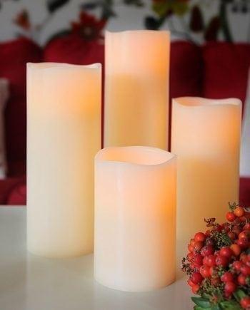 Big Wax LED Vokslys Kubbelys 3 størrelser-0
