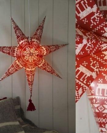 Tärnaby Papirstjerne m/ Dusk Rød 60 cm-0
