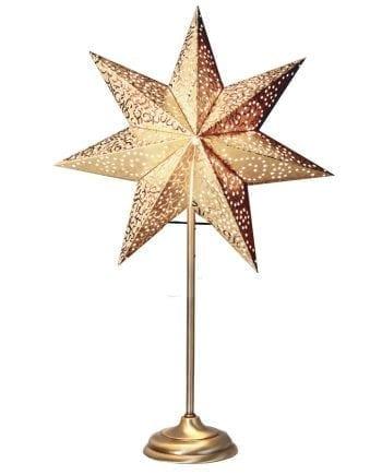 Antique Bord Papirstjerne Gull 55 cm-0
