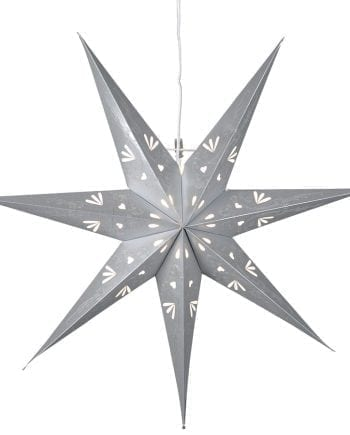 Metasol Papirstjerne 70 cm Grå-0