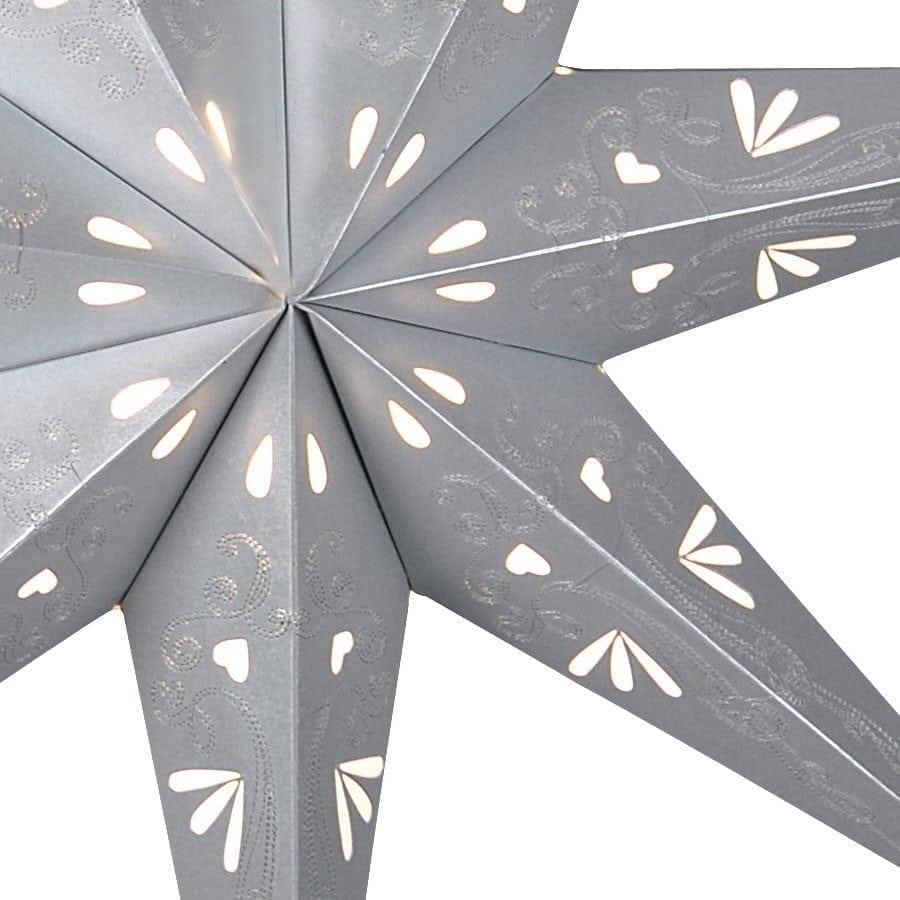 Metasol Papirstjerne 70 cm Grå-55251
