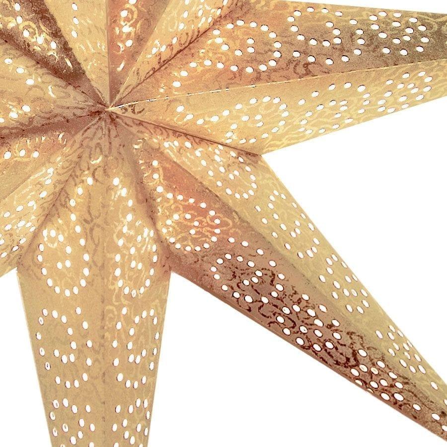 Antique Papirstjerne Gull 60 cm-55272