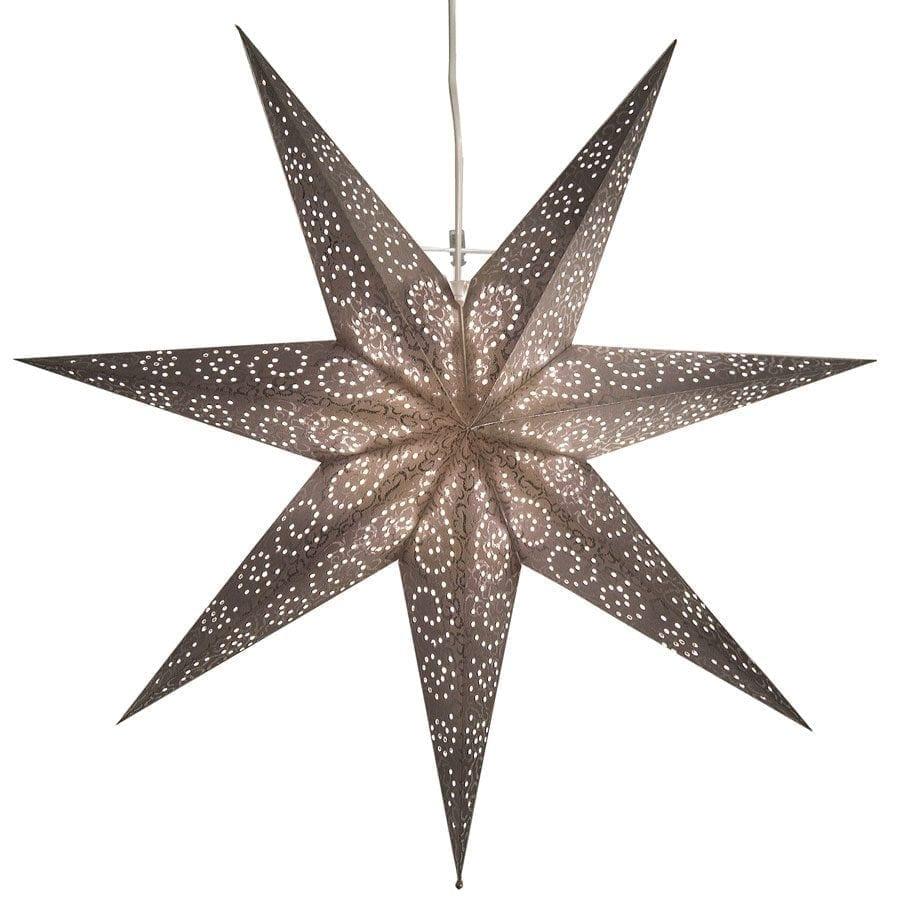 Antique Papirstjerne Sølv 60 cm-55268