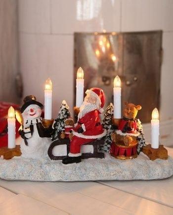 Lysestake Snømann, Nisse og Bamse-0