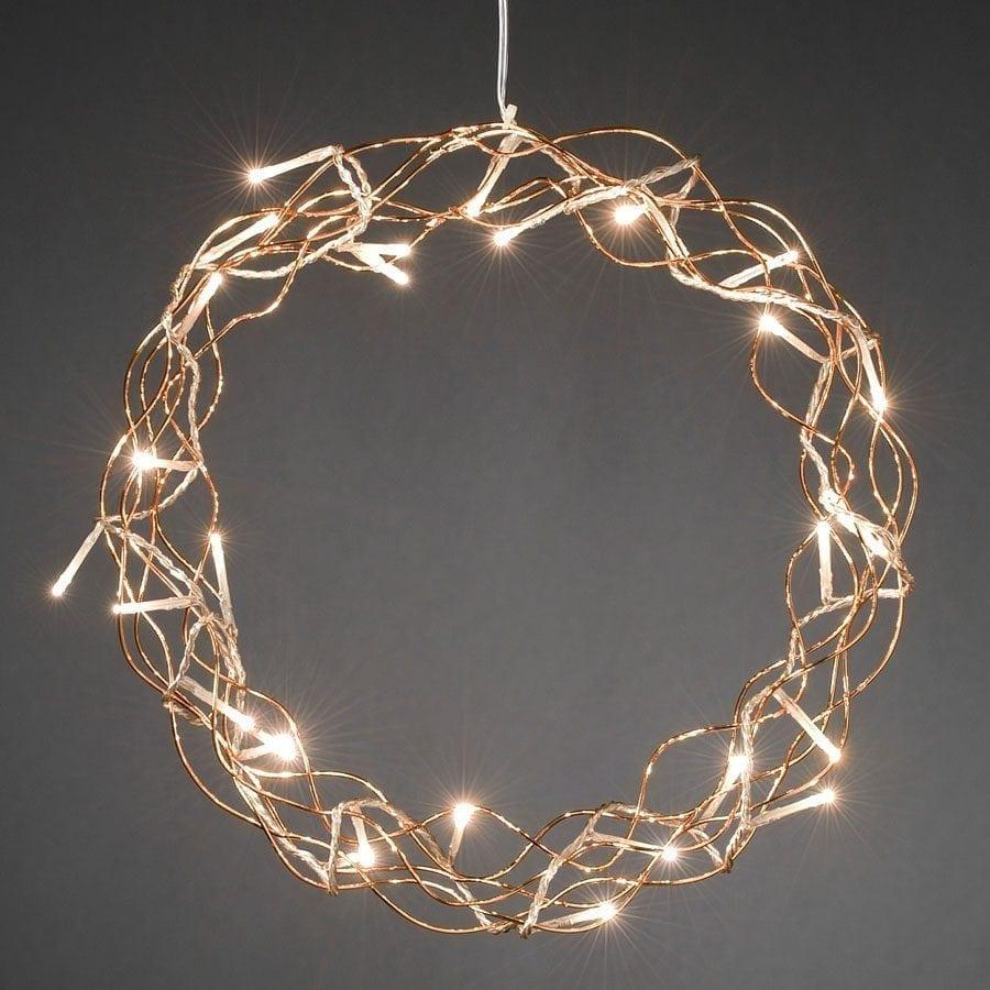 Metallkrans LED Kobber -56107