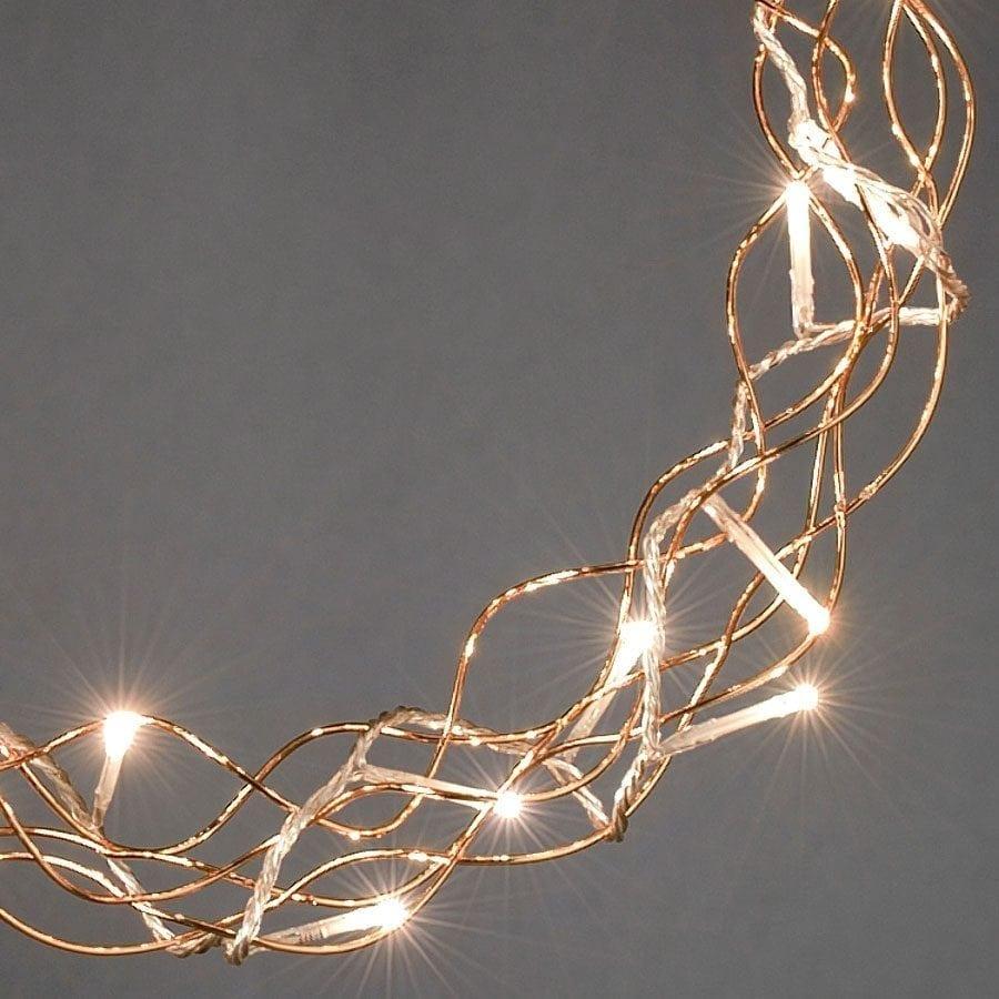 Metallkrans LED Kobber -56110