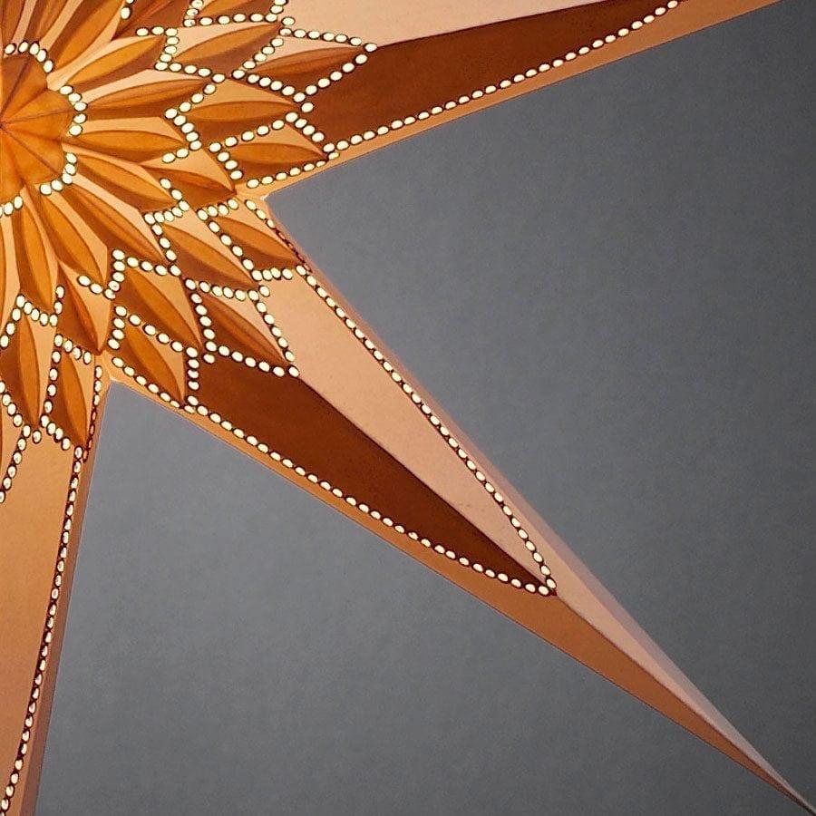 Papirstjerne Hvit/Gull/Brun 78 cm-55695