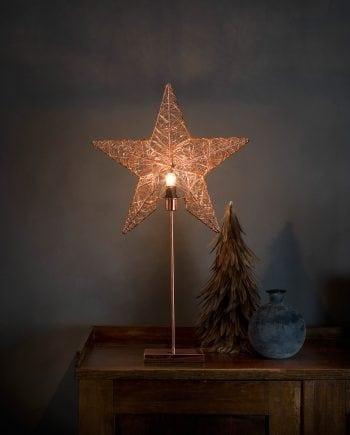 Metallstjerne på fot 2995 Kobbertråd-0