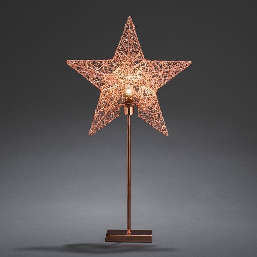 Metallstjerne på fot 2995 Kobbertråd-55823