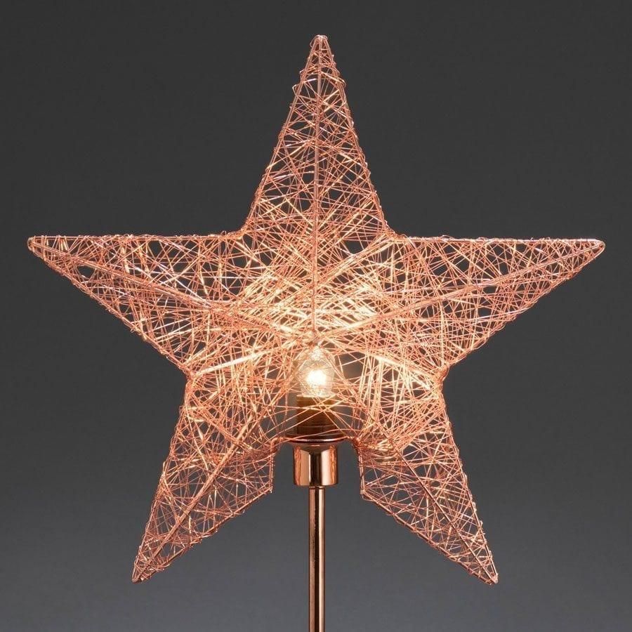 Metallstjerne på fot 2995 Kobbertråd-55827