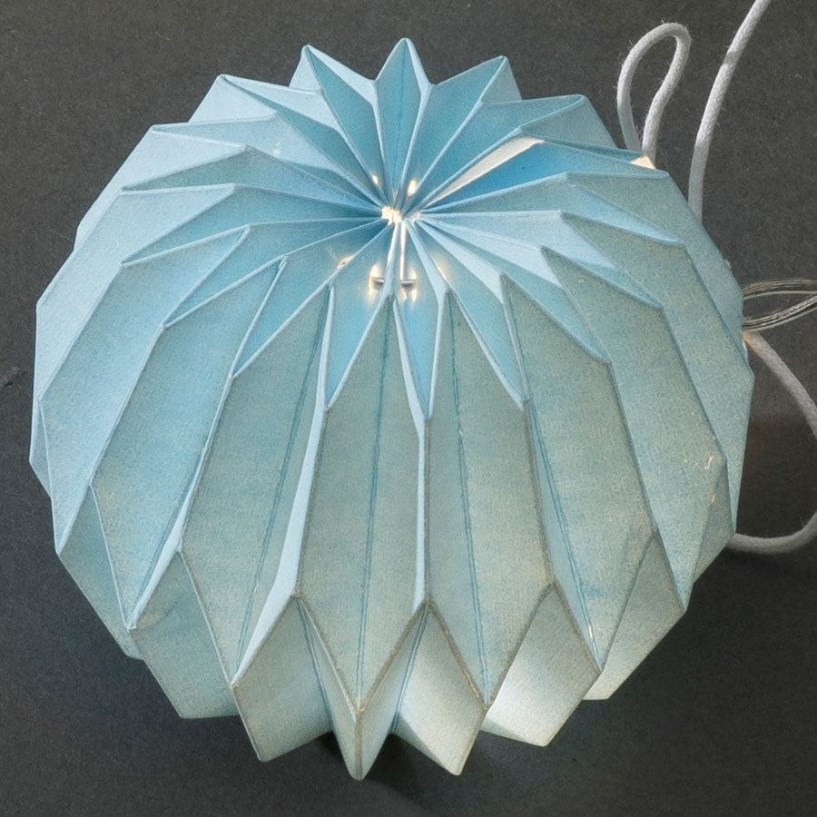 Papirballer LED Lysslynge Blå 12 Lys-56000