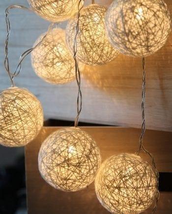 Jolly LED Lysslynge Hvit 10 Lys-0