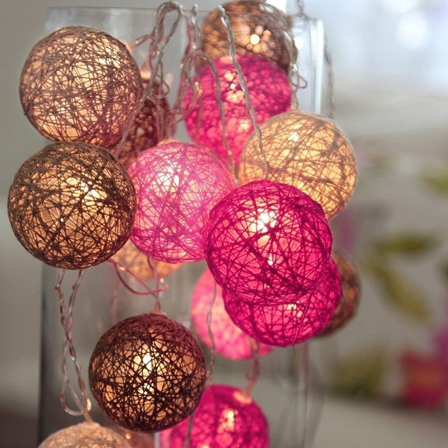 Jolly LED Lysslynge Rosa 10 Lys-55528