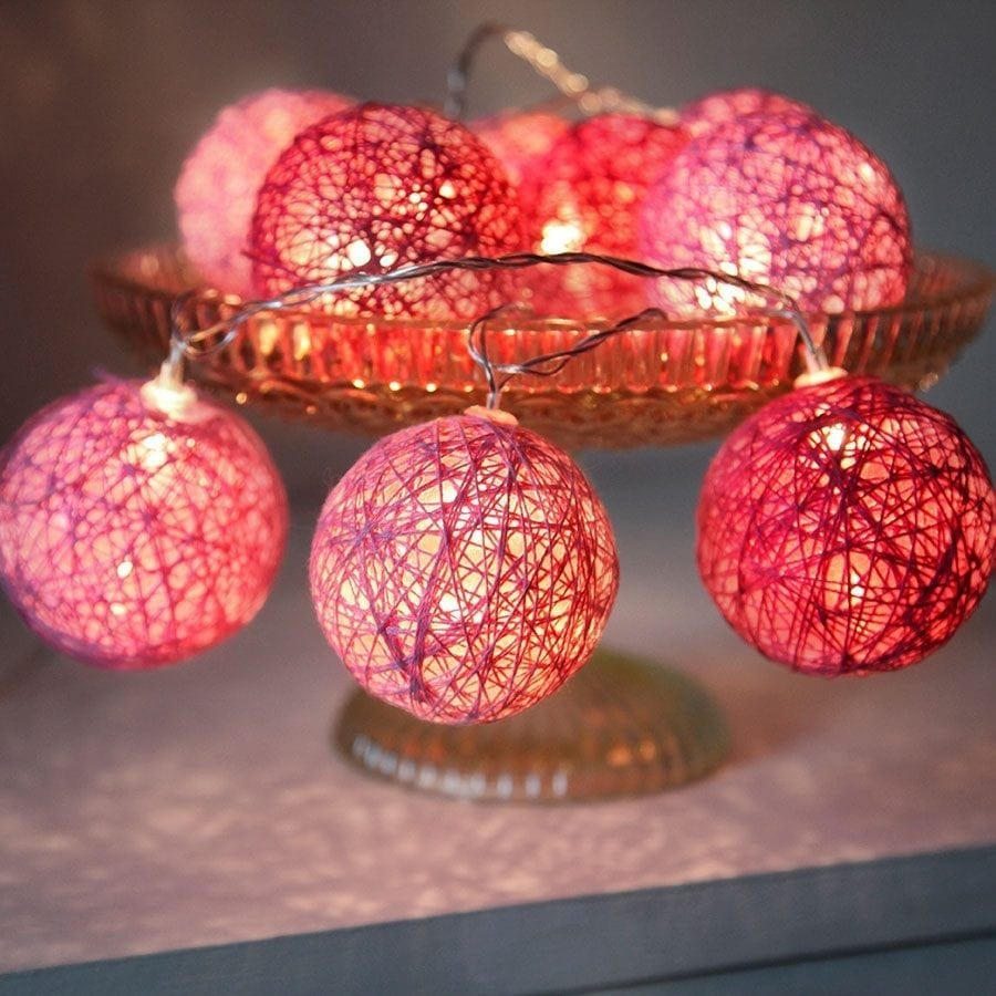 Jolly LED Lysslynge Rosa 10 Lys-0