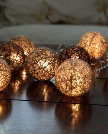 Jolly LED Lysslynge Brun 10 Lys-0