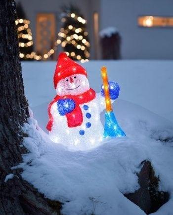 LED Snømann 56 Lys-0