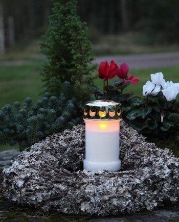 Gravlykt LED Gull 14 cm-0