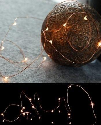 String Batteridrevet LED Lysslynge 12 Lys Kobber-0