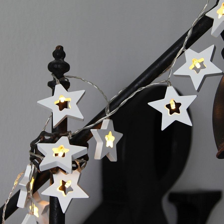 Batteridrevet LED Lysslynge Stjerner-0