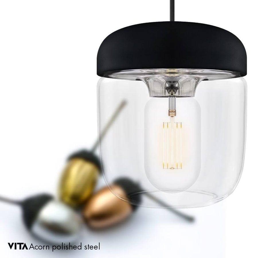 VITA Acorn Lampeskjerm Sort/Stål-57390