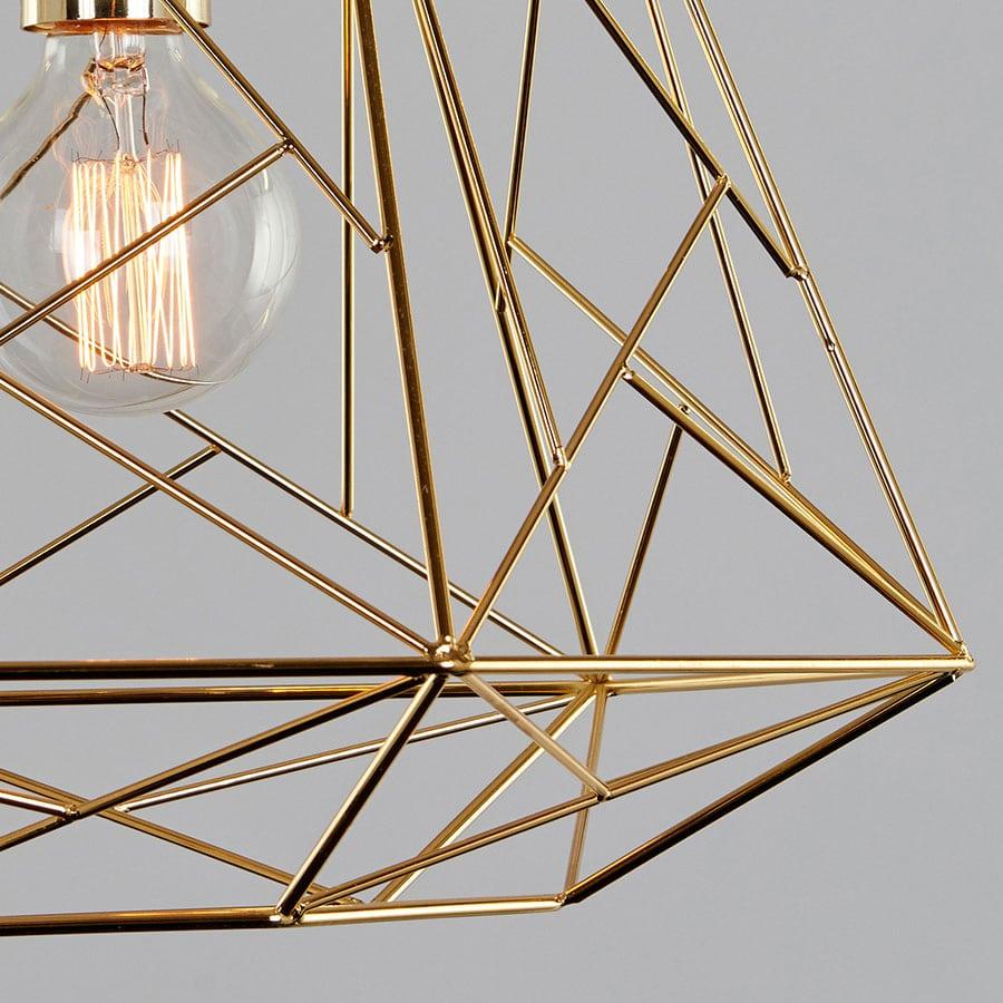 MS King Taklampe Messing   Designbelysning.no