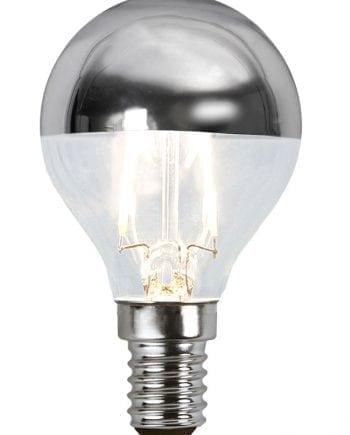 1,8W (=20W) E14 LED Filament Toppforspeilet Pære Sølv-0