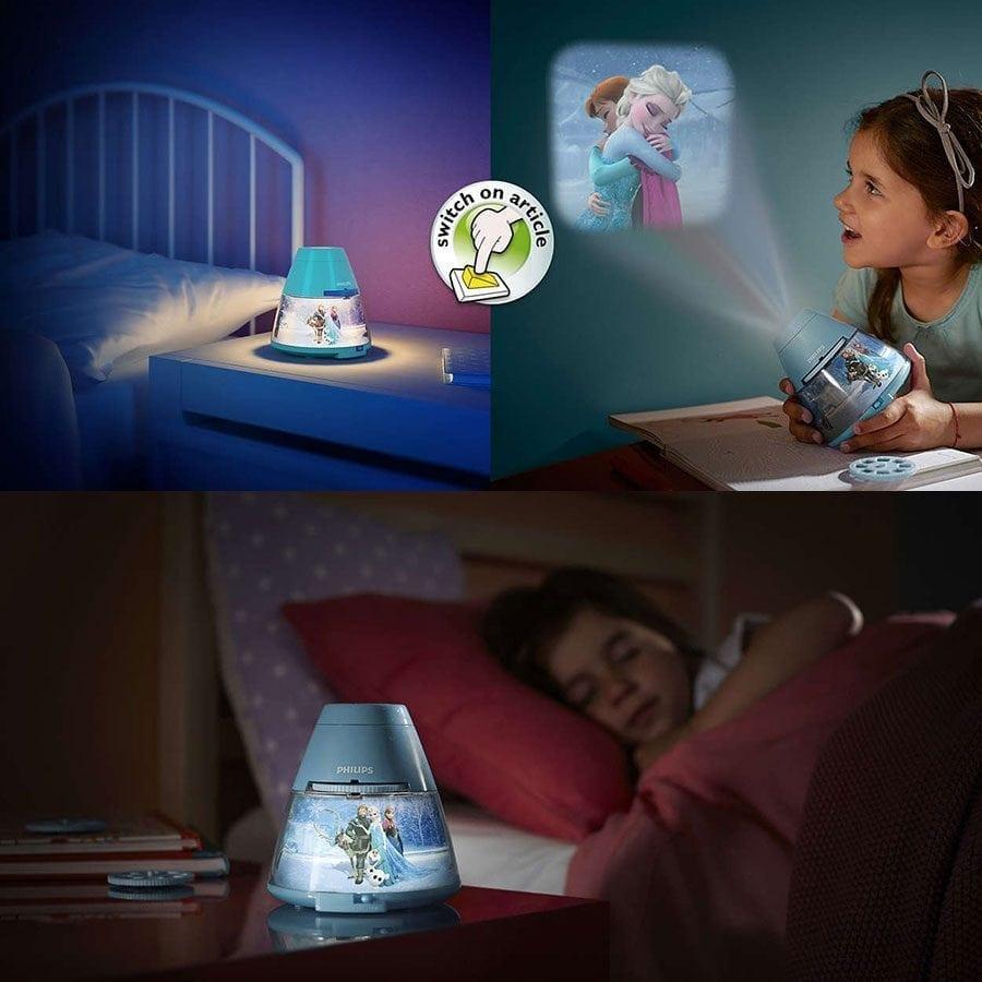 Philips Disney 2-i-1 LED Projektor og Nattlys Frost-58245