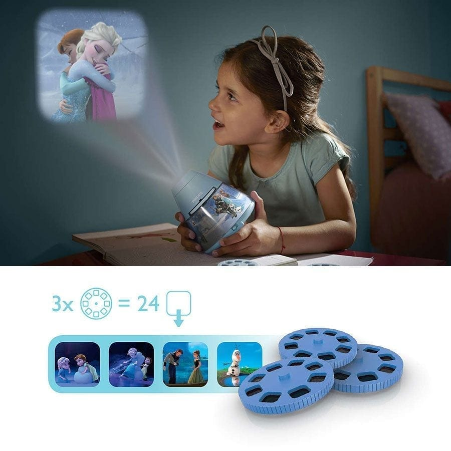 Philips Disney 2-i-1 LED Projektor og Nattlys Frost-0