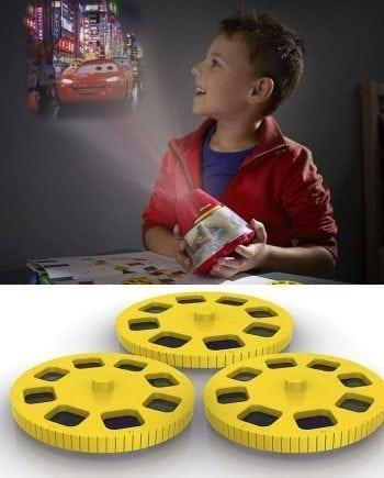 Philips Disney 2-i-1 LED Projektor og Nattlys Biler-0
