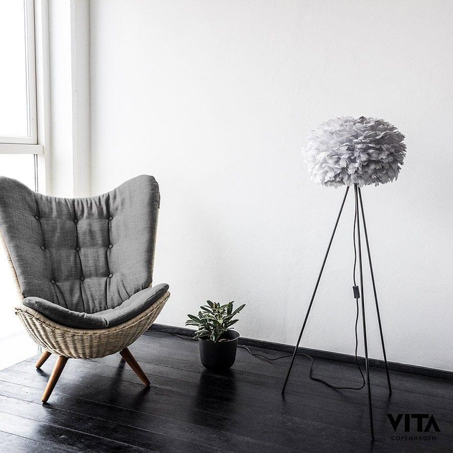VITA Eos Medium Fjær Grå Lampeskjerm-60334