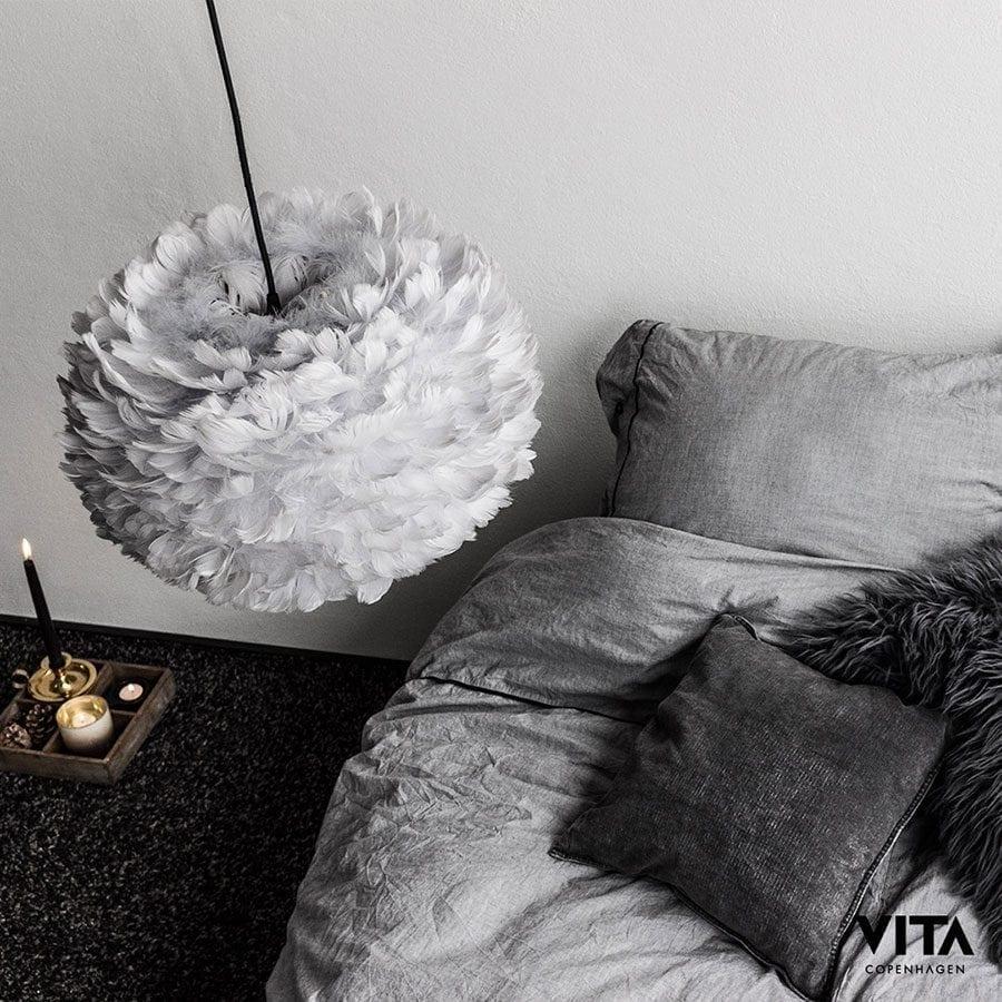 VITA Eos Medium Fjær Grå Lampeskjerm-60332
