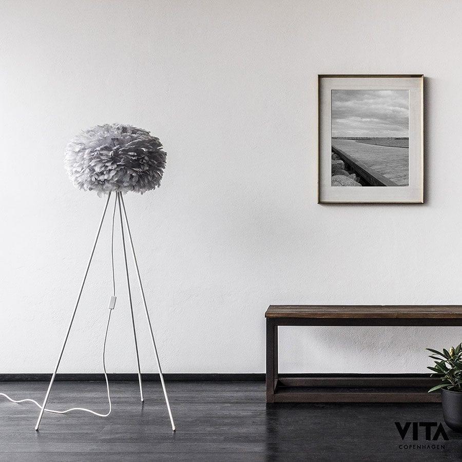 VITA Eos Medium Fjær Grå Lampeskjerm-60336