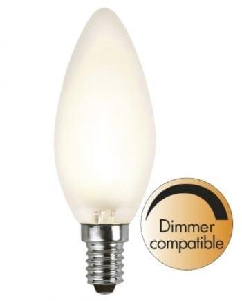 4W (=30W) E14 LED Filament Frostet Mignon Pære Dimbar-0