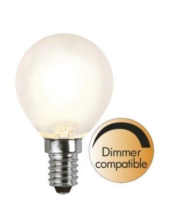 4W (=30W) E14 LED Filament Frostet Illum Pære Dimbar-0