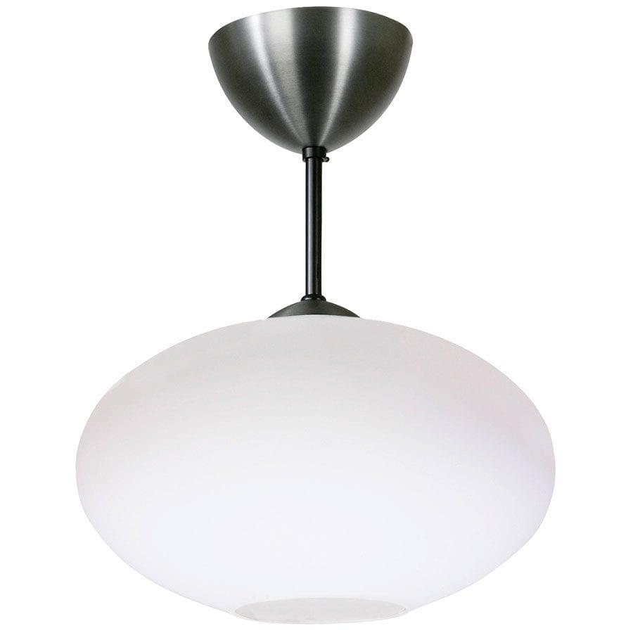 Bullo Nedpendlet Taklampe Opalt Glass Oxidgrå-0