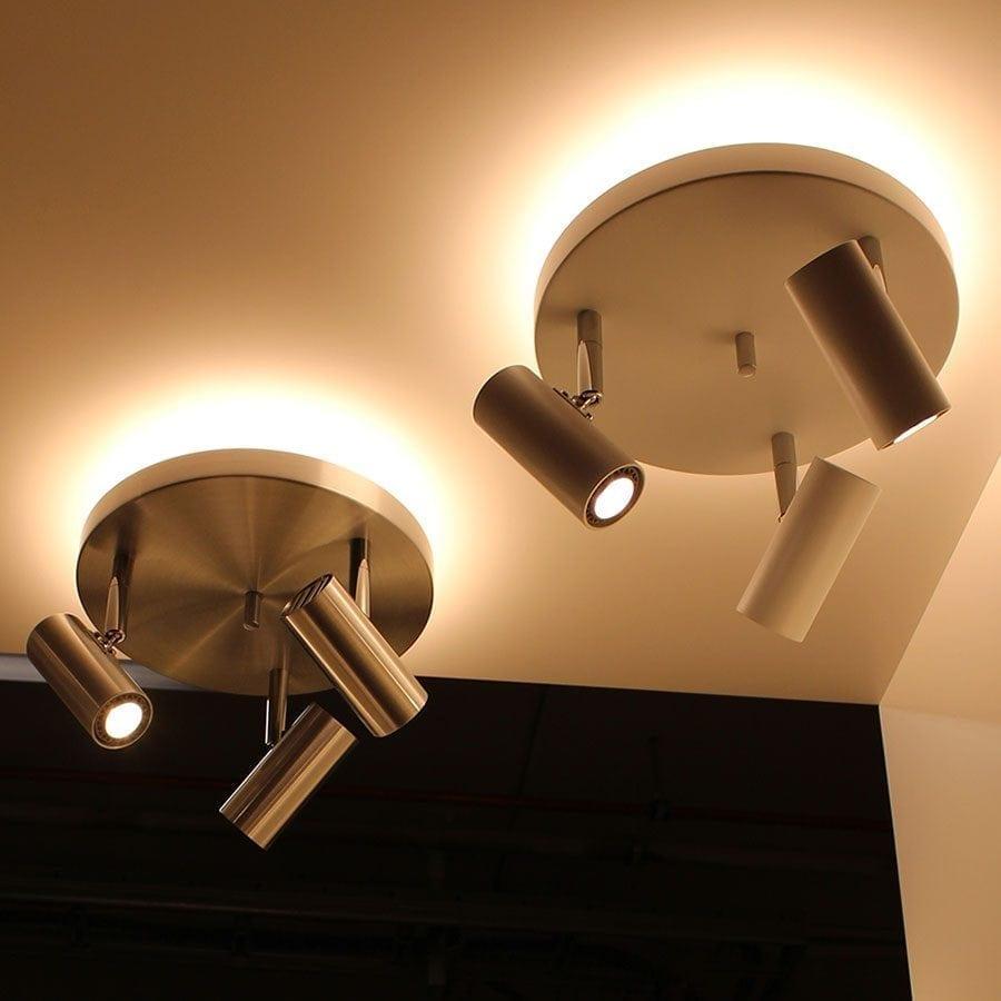 Cato 3 LED Spotlight Rundell m/Opplys-60038