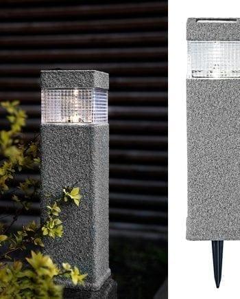 Granit LED Solcelle Markeringslys-0