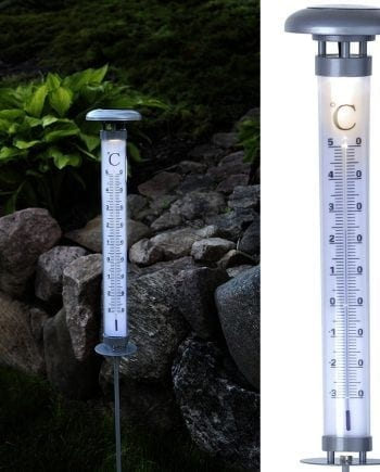 Celcius LED Solcelle Termometer-0