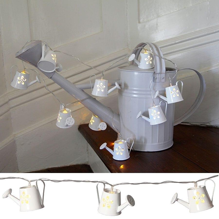 LED Vannkanne Metall Lysslynge 8 Lys-0